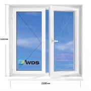 Окно ПВХ 110х142 новое в наличии